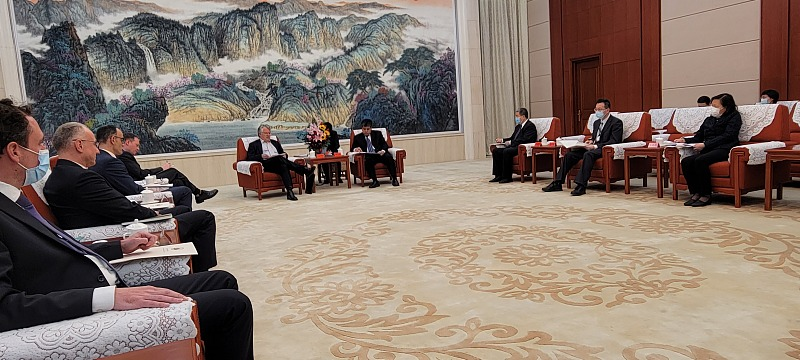 Meeting with Tianjin Vice Mayor on Green Energy and Individual Income Tax reforms